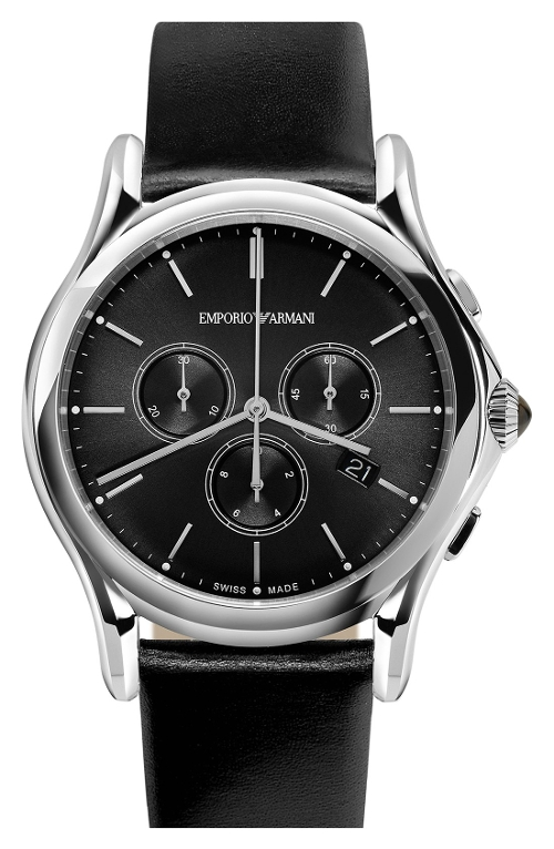 Chronograph Leather Strap Watch by Emporio Armani Swiss Made in Furious 7