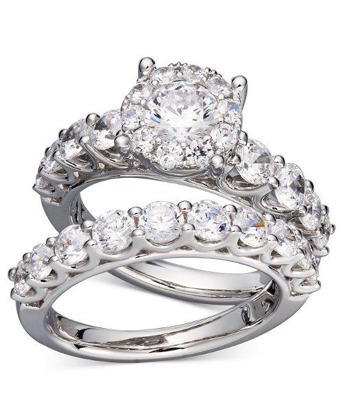 Diamond Bridal Ring Set by Prestige Unity in (500) Days of Summer