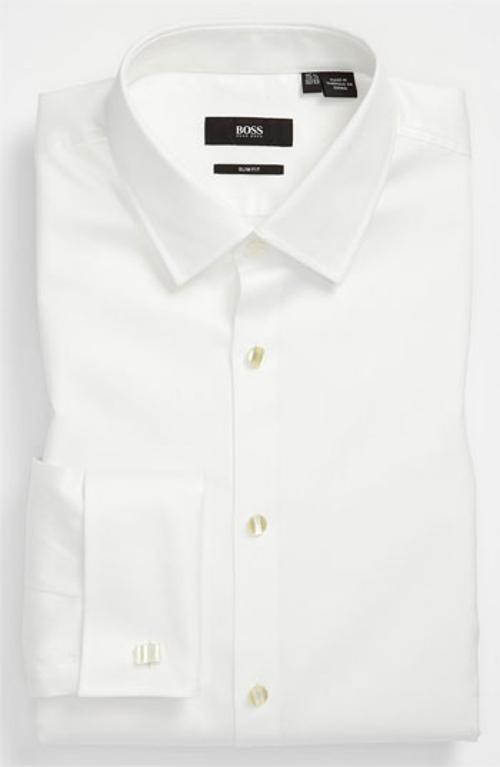'Jameson' Slim Fit Tuxedo Shirt by Boss Hugo Boss in Fight Club