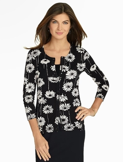 Falling Daisies Charming Cardigan by Talbots in Veep