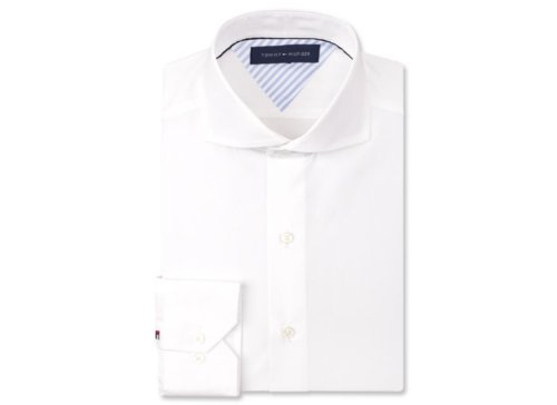 White Cutaway Collar Dress Shirt by Tommy Hilfiger in The Secret Life of Walter Mitty