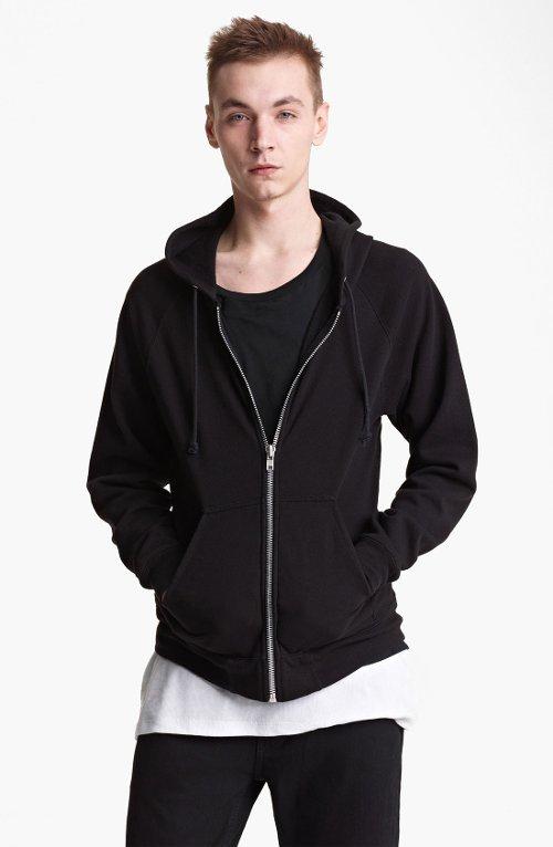 Sweatshirt 3 Zip Hoodie by Blk Dnm in (500) Days of Summer