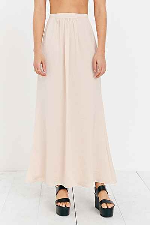 Silky Grecian Maxi Skirt by Kimchi Blue in The Visit