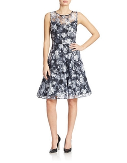 Floral Lace Fit And Flare Dress by Chetta B in The Big Bang Theory