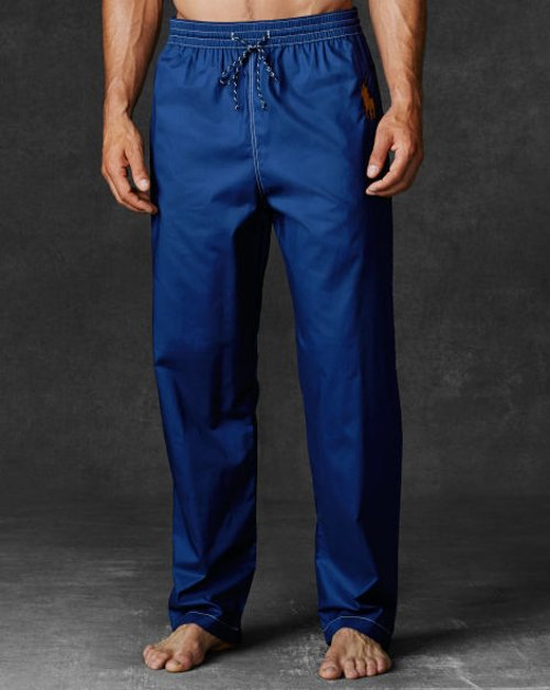 Cotton Pajama Pant by Ralph Lauren in Blackhat