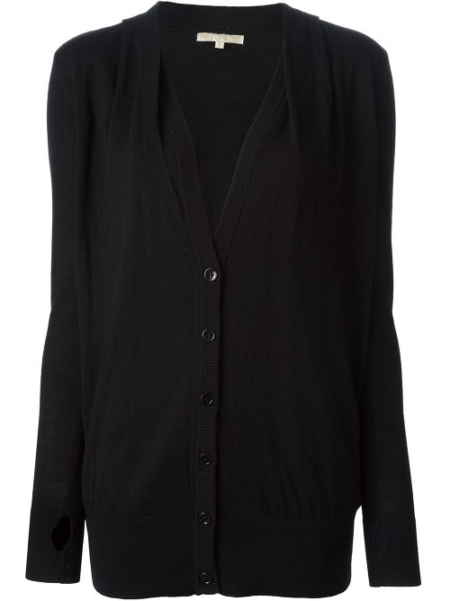 Classic V-Neck Cardigan by Gold Hawk in The Town