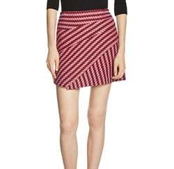 Janeiro Tweed Skirt by Maje in Fuller House