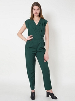 Viscose Twill Jumpsuit by American Apparel in Spy