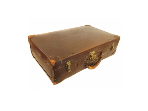 Cowhide Leather Suitcase by Black Market Antiques in Fantastic Beasts and Where to Find Them