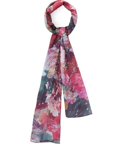 Floral Print Cotton Modal Scarf by Austin Reed in The Mindy Project