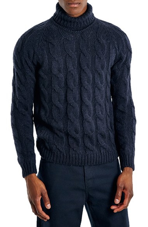 Colin Firth Topman Cable Knit Turtleneck Sweater from Love ...