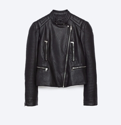 Leather Effect Jacket by Zara in Arrow