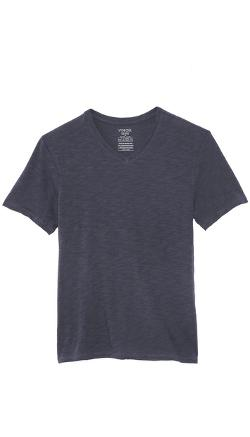 Slub V Neck T-Shirt by Vince in What If