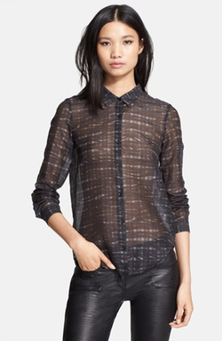 Print Cotton Blend Shirt by The Kooples in Brooklyn Nine-Nine