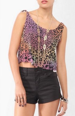 Purple Ombré Leopard Print Tank by Forever 21 in Begin Again