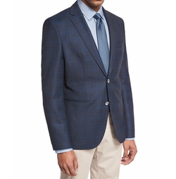 Windowpane-Check Wool Sport Coat by Boss Hugo Boss in Lethal Weapon