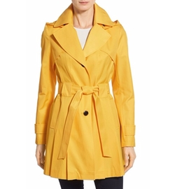 'Scarpa' Hooded Single Breasted Trench Coat by Via Spiga in Chelsea