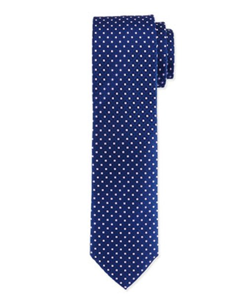 Venn Circle Silk Tie by Charvet in Black or White