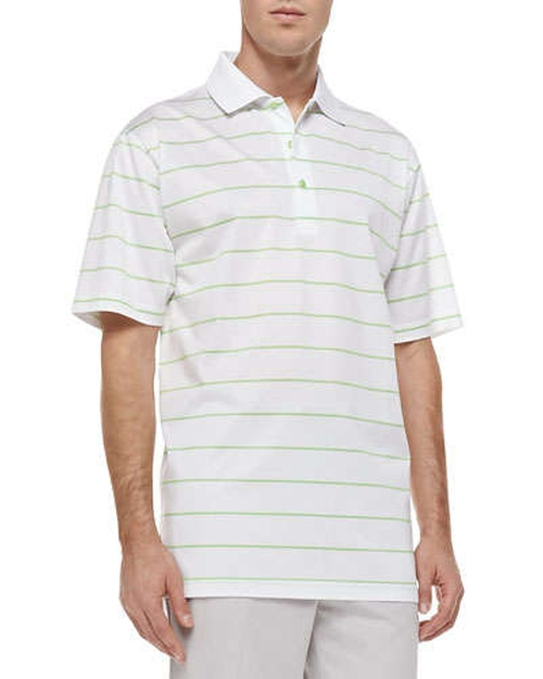 Alex Striped Short-Sleeve Polo Shirt by Peter Millar in Begin Again