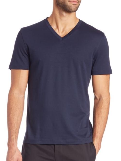 Sleek V-Neck T-Shirt by Michael Kors in The Bachelorette - Season 12 Episode 7