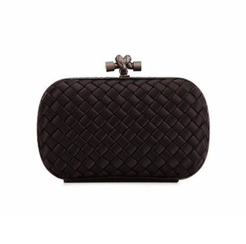 Woven Satin Knot Minaudiere Bag by Bottega Veneta in Conviction - Season 1 Preview