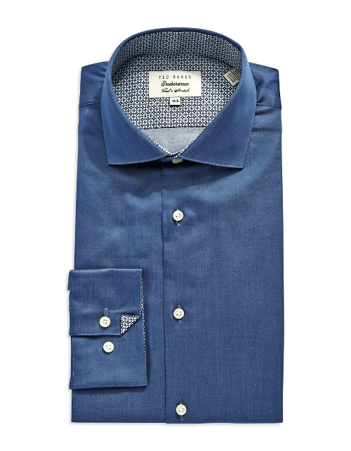 Slim Fit Button-Down Dress Shirt by Ted Baker in Thor