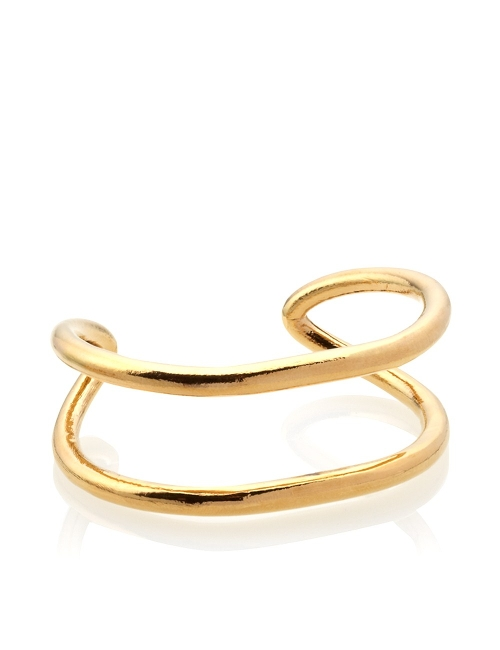 Gold Unison Bangle by Estelle Dévé in Dope