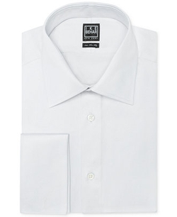 Solid French Cuff Shirt by Ike Behar in Suits