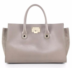 Riley Leather & Suede Tote Bag by Jimmy Choo in Empire