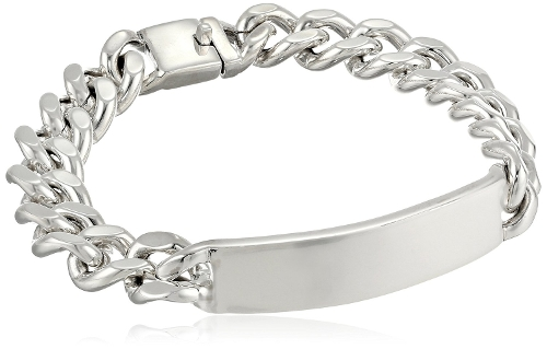 Thin Curb Chain Identification Bracelet by Zina Sterling Silver in Self/Less