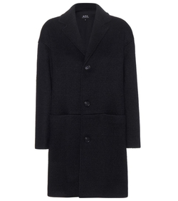 Wool-Blend Coat by A.P.C. in The Second Best Exotic Marigold Hotel