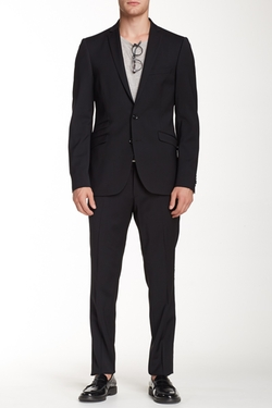 Solid Two Button Notch Lapel Wool Suit by Tiger of Sweden in Elementary