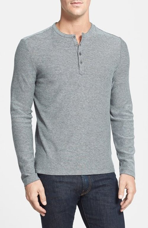'Horace' Long Sleeve Cotton Henley Shirt by Robert Barakett in If I Stay
