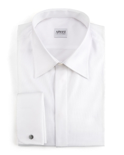Modern Fit Basic Formal Shirt by Armani Collezioni in Self/Less