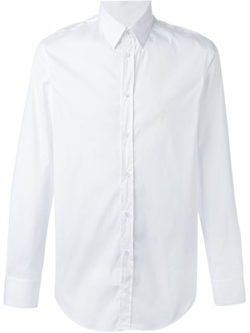 Pointed Collar Shirt by Emporio Armani in Elf