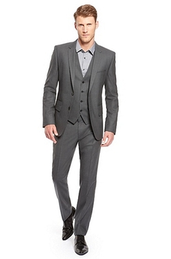 Arill/Wilm/Heven Extra Slim Fit, Virgin Wool 3-Piece Suit by Hugo Boss in Crazy, Stupid, Love.