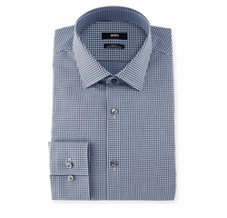 Mini-Gingham Dress Shirt by Boss Hugo Boss in The Bachelorette