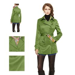 Short Green Trench Coat by Mood By Me in The Wolverine