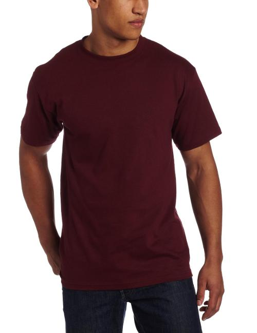 Men's Classic 100% Cotton Short Sleeve T-Shirt by Soffe in Lucy