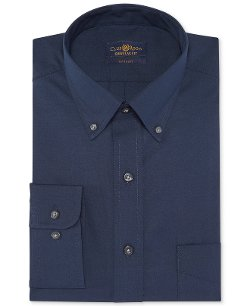 Wrinkle-Resistant Solid Dress Shirt by Club Room Estate in Paddington