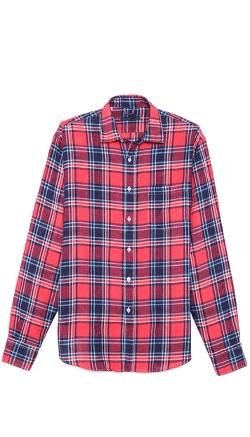 Linen Plaid Sport Shirt by MASON'S in This Is Where I Leave You