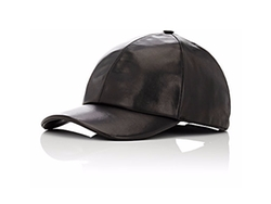 Leather Baseball Cap by Vianel in Empire