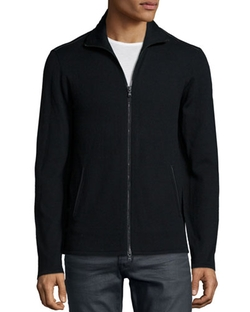 Full-Zip Knit Jacket by John Varvatos Star USA in The Walk