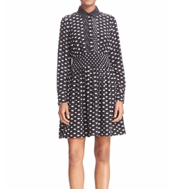 Swan Print Silk Blend Shirtdress by Kate Spade New York in New Girl