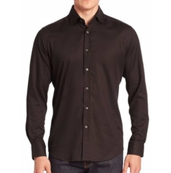Baylor Textured Button-Down Shirt by Robert Graham in Logan