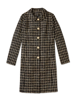 Peter Pan Collar Coat by The Salvador Perez Collection in The Mindy Project