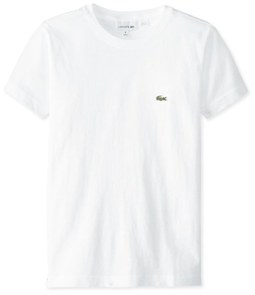 Big Boys' Short Sleeve Jersey T-Shirt by Lacoste in Black or White