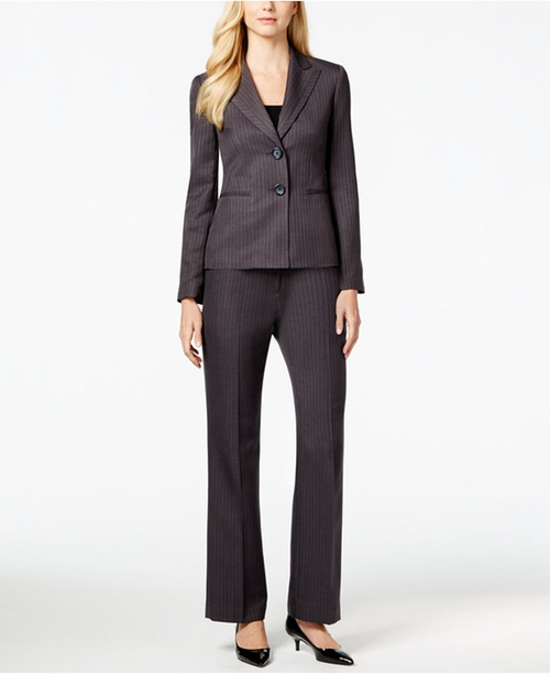 Two-Button Pinstriped Pantsuit by Le Suit in Scandal - Season 5 Episode 19