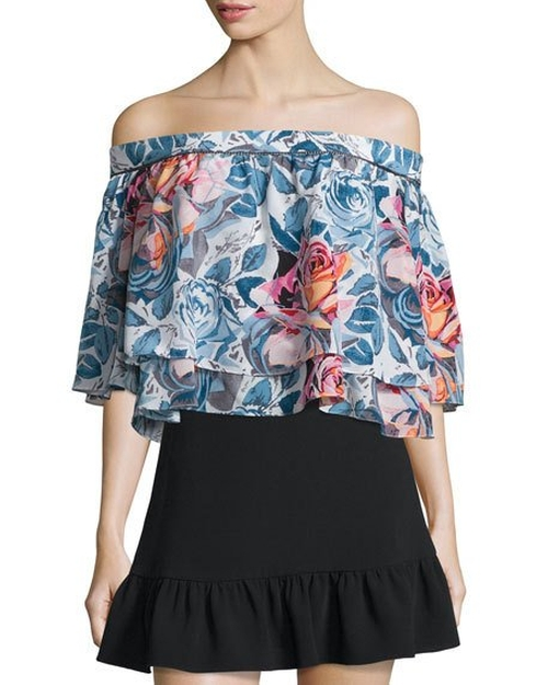 Vanessa Off-The-Shoulder Floral-Print Top by Elizabeth and James in Mistresses