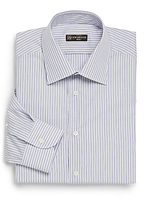 Chain Striped Dress Shirt by Corneliani in The Hundred-Foot Journey